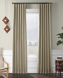 "Exclusive Fabrics Furnishings Faux Linen Blackout Curtain 108"" x 50"" Curtain Panel"