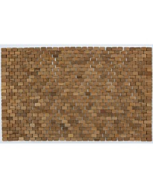 "Hip-o Modern Living Oversized Teak Indoor and outdoor Floor and Bath Mat, 34"" x 21"""