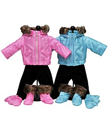 "The Queen's Treasures Set of 2 Complete Bitty 15"" Baby Doll and Winter Clothes"