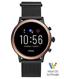 Fossil Tech Gen 5 Julianna HR Black Leather Smart Watch 44mm