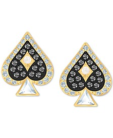 Gold-Tone Crystal Spade Stud Earrings