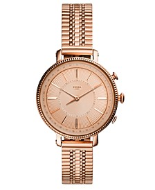 Q Women's Cameron Rose Gold-Tone Stainless Steel Bracelet Hybrid Smart Watch 36mm