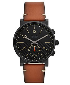 Fossil Q Men's Barstowe Brown Leather Hybrid Smart Watch 42mm