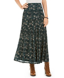 Style & Co Tiered Mesh Maxi Skirt, Created for Macy's