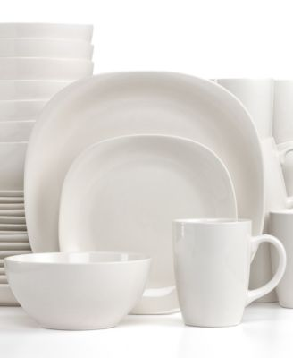 thomson pottery quadro 32piece set service for 8 - White Dinnerware Sets