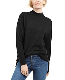Solid Seam Front Mockneck Top, Created for Macy's