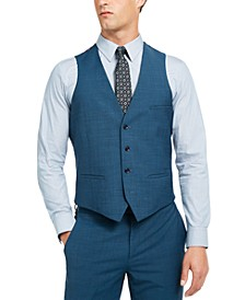 Men's Slim-Fit Active Stretch Performance Teal Suit Separate Vest, Created for Macy's