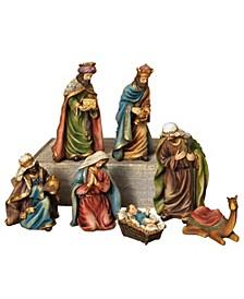 7-Piece Set Resin Nativity Figurines