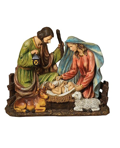 Sterling 37.8-Inch-Long, Solar Lighted, Magnesium Holy Family Figurine