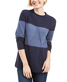 Karen Scott Grace Colorblocked Sweater, Created for Macy's