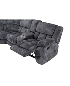 Seymore Left Facing Manual Motion Sectional Recliner
