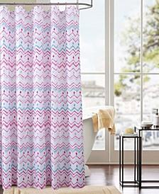 Classic Chevron Printed Shower Curtain