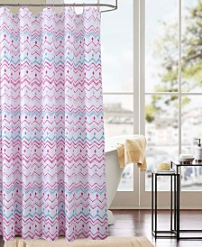 RT Designers Collection Classic Chevron Printed Shower Curtain