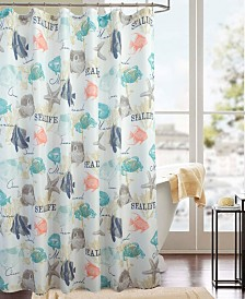 RT Designers Collection Classic Sea Life Printed Shower Curtain
