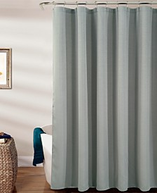 RT Designers Collection Warwick Textured Jacquard Shower Curtain