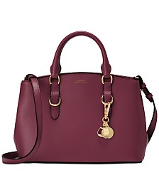 Lauren Ralph Lauren Bennington Mini Zip Saffiano Leather Satchel
