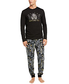 Matching Men's New Year Pajama Set, Created for Macy's