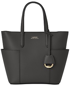 Lauren Ralph Lauren Smooth Leather Mini Carlyle Tote