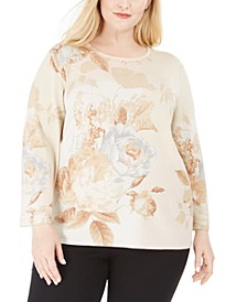 Plus Size Boardroom Floral-Print Top