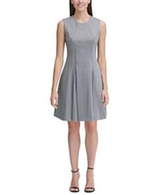 Tommy Hilfiger Herringbone Fit & Flare Dress