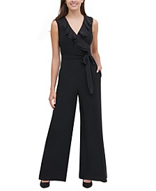 Ruffled Wide-Leg Jumpsuit