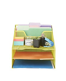 5 Tray Desk Organizer Document Holder