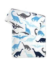 Tadpoles Ultra-Soft Micro Fleece Plush Dinosaur Baby Blanket