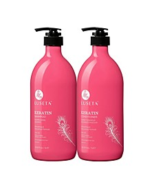 Luseta Beauty Keratin Smooth Shampoo & Conditioner Set 67.6 Ounces