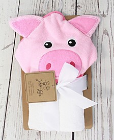 3 Stories Trading Infant Hooded Towel, Piglet