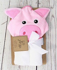 Jesse Lulu Infant Hooded Towel, Piglet