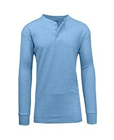 Men's Long Sleeve Thermal Henley Tee