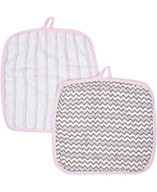 Boys and Girls Muslin Washcloths - Pack of 2