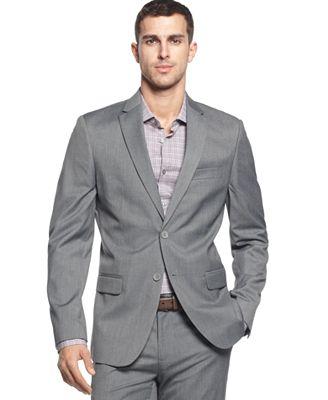 Calvin Klein Men's Two-Button Greystone Blazer