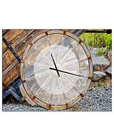 Designart Oversized Rustic Metal Wall Clock