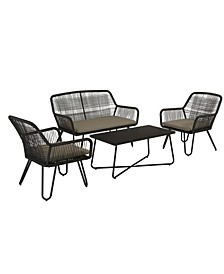 Novogratz Poolside Collection Marli 4-Piece Outdoor Conversation Set