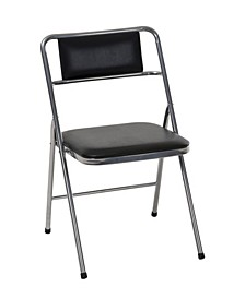 Stylaire Vinyl Padded Folding Chair, 4-Pack