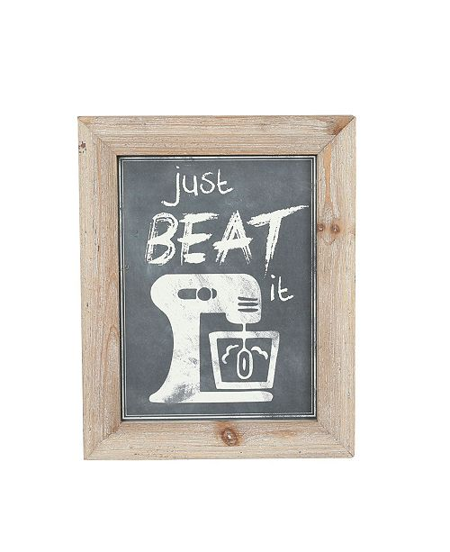 Luxen Home 3 piece Wood Kitchen Quips Wall Plaques