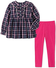 Little Girls 2-Pc. Plaid Tunic & Leggings Set
