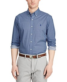 Men's Big & Tall Poplin Sport Shirt