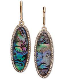 Gold-Tone Pavé & Stone Chandelier Earrings