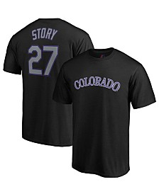 Majestic Men's Trevor Story Colorado Rockies Official Player T-Shirt