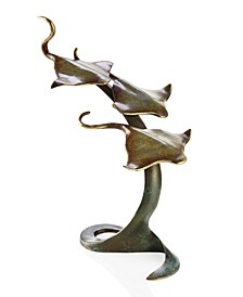 Home Triple Stingrays Sculpture