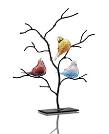 Home Bird Trio on Tree Sculpture