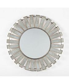 Metal Windmill Wall Mirror