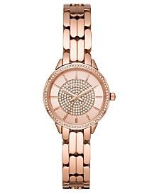 Michael Kors Women's Allie Rose Gold-Tone Stainless Steel Bracelet Watch 28mm