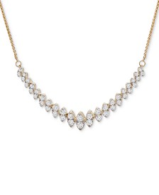 "Wrapped in Love™ Diamond 18"" Statement Necklace (1 ct. t.w.) in 14k Gold, Created for Macy's"