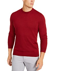 Men's Solid Crewneck Sweater, Created for Macy's