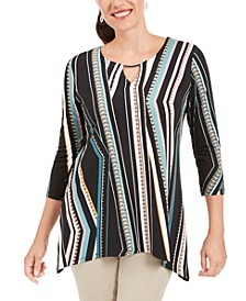 Printed Hammerhead Hem Tunic, Created for Macy's