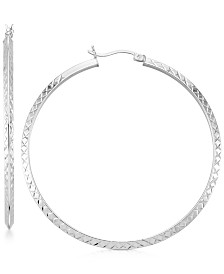 Twisted Hoop Earrings in 14k Gold Over Silver or 14K White Gold Over Silver