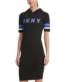 DKNY Sport Logo Hooded Dress